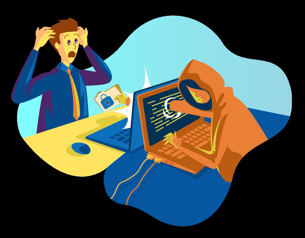 robo total o parcial de una web